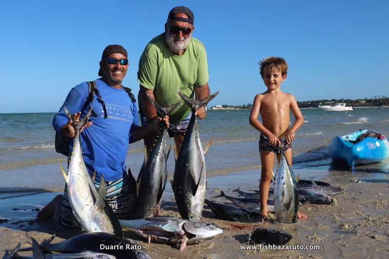 Those Bazaruto Yellowfin Tuna were in deep trouble this day. Three generations of Rato's out to fish!